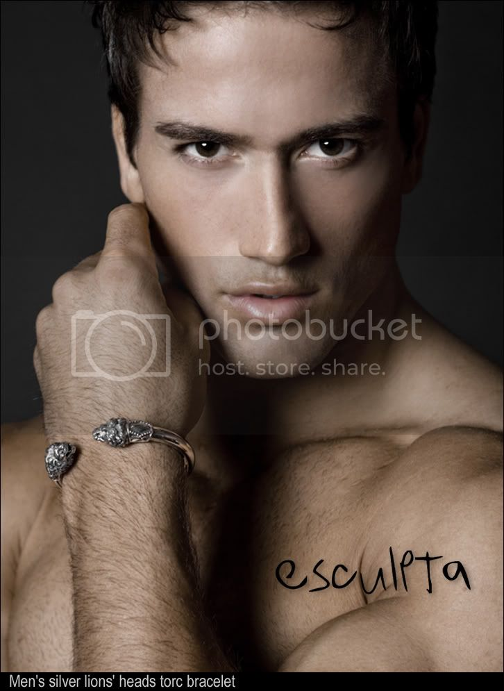 Esculpta jewellery for men. Lion bracelet photo shoot by esculpta &amp; Vizeau mens underwear